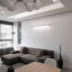 ห้องนั่งเล่น โดย 形構設計 Morpho-Design, โมเดิร์น