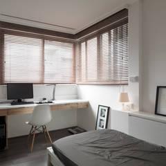 ห้องนอน โดย 形構設計 Morpho-Design, โมเดิร์น