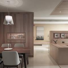 翰林院:  餐廳 by 形構設計 Morpho-Design, 現代風