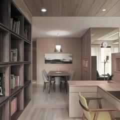 翰林院:  書房/辦公室 by 形構設計 Morpho-Design, 現代風