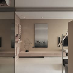 翰林院:  牆面 by 形構設計 Morpho-Design, 現代風