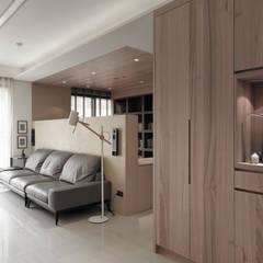 翰林院:  走廊 & 玄關 by 形構設計 Morpho-Design, 現代風