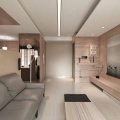 翰林院:  客廳 by 形構設計 Morpho-Design, 現代風