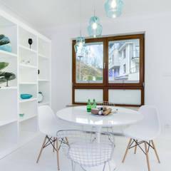 Apartament na wynajem w Sopocie: styl , w kategorii Jadalnia zaprojektowany przez Lux Interiors - projektowanie i aranżacja wnętrz Gdańsk, Gdynia, Sopot,