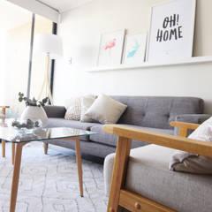 Ruang Keluarga oleh Casa Nómade, Minimalis