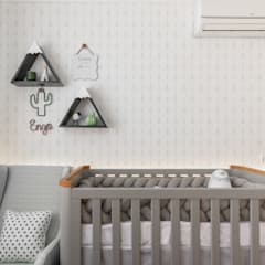 Dormitorios de bebé de estilo  por Mari Milani Arquitetura & Interiores,