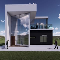 La casa 10 : Casas de campo de estilo  por Arq. Bruno Agüero, Moderno Concreto