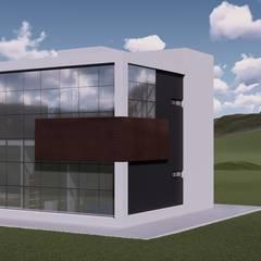 La casa 10 : Casas de campo de estilo  por Arq. Bruno Agüero,