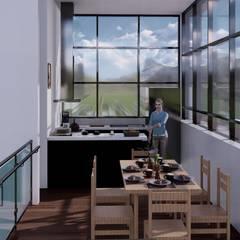 La casa 10 : Cocinas equipadas de estilo  por Arq. Bruno Agüero,