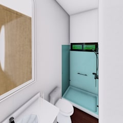 La casa 10 : Baños de estilo  por Arq. Bruno Agüero,
