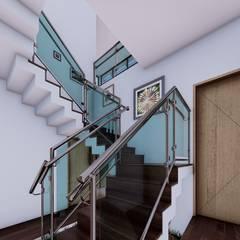 La casa 10 : Escaleras de estilo  por Arq. Bruno Agüero, Moderno