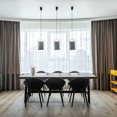 Просто лофт,  Москва (реализация проекта): Столовые комнаты в . Автор – Interior designers Pavel and Svetlana Alekseeva