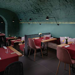 餐廳 by manuarino architettura design comunicazione, 簡約風 石器