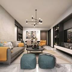 living room:  غرفة المعيشة تنفيذ Eden Designs, حداثي