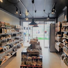 Origenes FitMarket: Oficinas y Tiendas de estilo  por Symbiosis Arquitectura y Construcción