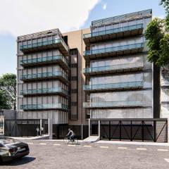 Edificio Departamentos Residencial - Polanco: Casas multifamiliares de estilo  por AAVE Diseño y Construcción