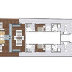 Edificio Departamentos Residencial - Cuauhtemoc: Casas multifamiliares de estilo  por AAVE Diseño y Construcción