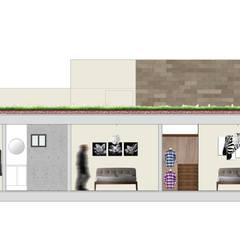 Edificio Departamentos Residencial - Cuauhtemoc: Recámaras pequeñas de estilo  por AAVE Diseño y Construcción