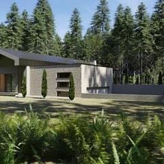Garasi ganda oleh Budownictwo i Architektura Marcin Sieradzki - BIAMS, Industrial Granit