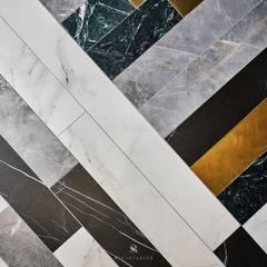 Pisos de estilo  por 理絲室內設計有限公司 Ris Interior Design Co., Ltd.