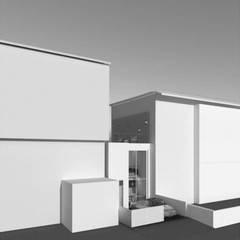 Reconversão de uma garagem em habitação: Garagens e arrecadações  por Nuno Ladeiro, Arquitetura e Design,Moderno