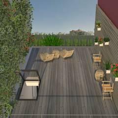 Reconversão de uma garagem em habitação Varandas, marquises e terraços modernos por Nuno Ladeiro, Arquitetura e Design Moderno