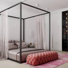 Dormitorios pequeños de estilo  por Дизайн бюро Аминовой Кристины.