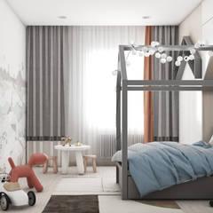 Teen bedroom by Дизайн бюро Аминовой Кристины.,