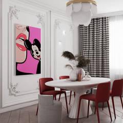 Cocinas pequeñas de estilo  por Дизайн бюро Аминовой Кристины.