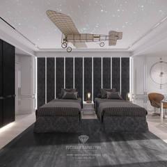 Дизайн 3-комнатной квартиры в Санкт-Петербурге: Спальни в . Автор – Студия дизайна интерьера Руслана и Марии Грин, Эклектичный