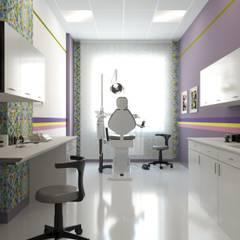 поликлиника: Кабинеты врачей в . Автор – Архитектурная мастерская Екатерины Петросян,