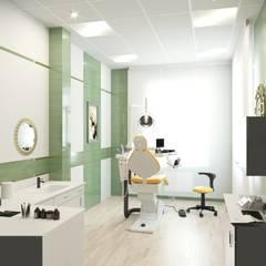 поликлиника: Кабинеты врачей в . Автор – Архитектурная мастерская Екатерины Петросян