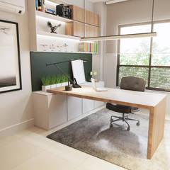 مكتب عمل أو دراسة تنفيذ Gelker Ribeiro Arquitetura | Arquiteto Rio de Janeiro , حداثي خشب نقي  Multicolored