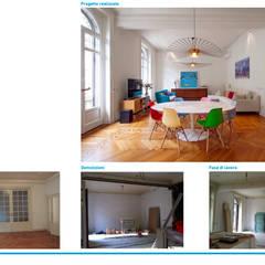 Dormitorios pequeños de estilo  por Chantal Forzatti architetto
