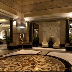 مشروع  فيلا سكنية الرياض  (السعودية):  الممر والمدخل تنفيذ smarthome,