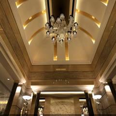 مشروع فيلا سكنية الرياض (السعودية) الممر الحديث، المدخل و الدرج من smarthome حداثي