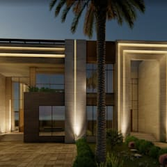 Abu Dhabi Villa:  Villas by A+ Design, Modern Stone