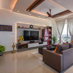 Livings de estilo  por Prop Floor Interiors, Asiático Contrachapado