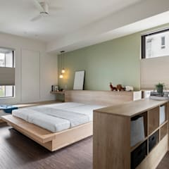 Small bedroom by MSBT 幔室布緹, Industrial Engineered Wood Transparent