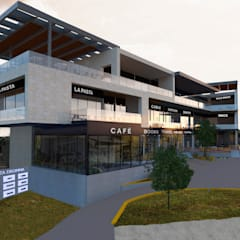 Plaza Droma - MTY: Centros Comerciales de estilo  por Vórtice Transparente, Moderno