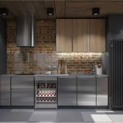Cocinas de estilo  por Interior designers Pavel and Svetlana Alekseeva, Industrial