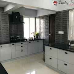 Kitchen units by Lucky Interiors, Classic Granite