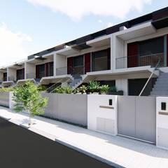 Viviendas colectivas de estilo  por Jah Building Solutions