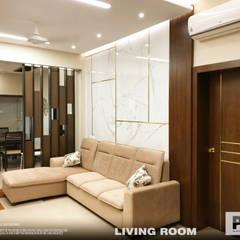 Salas / recibidores de estilo  por PSA Architecture, Asiático Madera maciza Multicolor