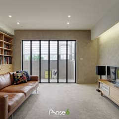 Living room by 六相設計 Phase6,