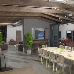 Balcones y terrazas de estilo rural de Edge Design Studio Architects Rural