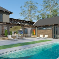 Alterations to Existing Residence:  Garden Pool by Edge Design Studio Architects, Country