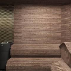 Saunas de estilo  por SK Interiors studio,