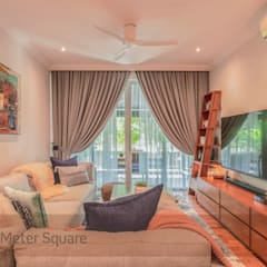 White Classic:  Living room by Meter Square Pte Ltd,Classic
