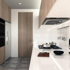 Baño y Cocina SG: Cocinas integrales de estilo  por Gamma, Minimalista Madera Acabado en madera